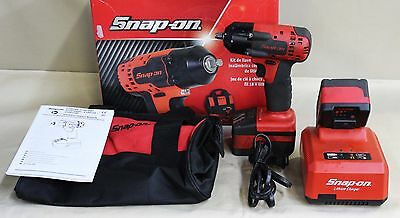 """Used, SnapOn 3/8"""" Drive Cordless Impact Wrench, 18V CT8810A."""