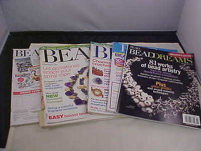 Bead and Button Magazine Back Issues 2005 4 Issues and 1 Collectors Edition Used