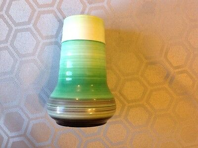 Vintage Shelley vase green and grey small