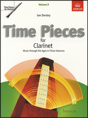 Time Pieces for Clarinet Volume 3 ABRSM Sheet Music Book