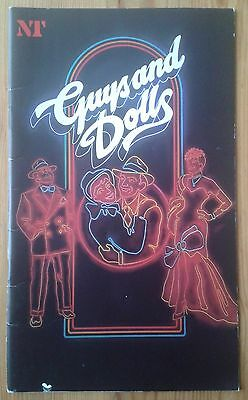 Guys and Dolls programme National Theatre 1982 Bob Hoskins Ian Charleson