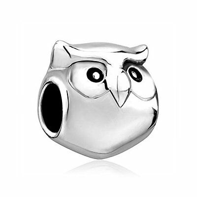 Jewellery Baby Owl Bird Cute Animal Charm Beads For Bracelet Valentines Gift