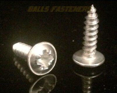 Pozi, Flange, Self Tapping Screws, , A Point, Zinc.