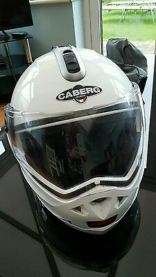 Caberg Trip white Flip Up Helmet - Size S (55-56) with protective bag
