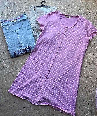 Mothercare Maternity Nightdress X 2 Nighties Size Large NEW & USED Blooming Marv