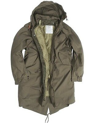 U.s. Shell Fishtail Parka Jacke M51 M. Futter Oliv Military Army Outdoor Xxs-L