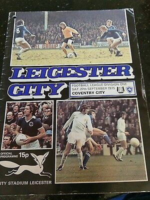 football programme Lecester city v Coventry 1975