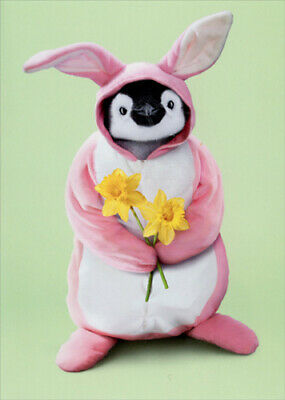 Penguin Bunny Easter Card - Greeting Card by Avanti Press