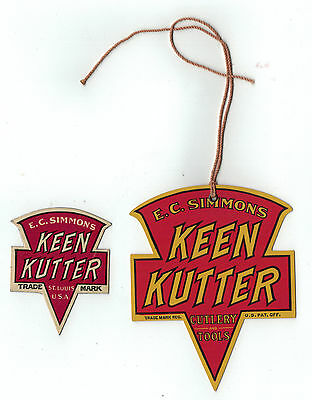 Very Early Two Different Keen Kutter Price Tags
