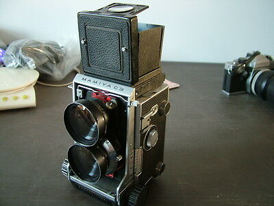 Vintage Mamiya C3, Professional TLR, Film Camera with Seiko 65mm Lens.