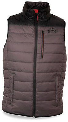 Fox Rage Quilted Puffa Shield Gilet Vest Waistcoat Grey/black Pike Fishing M-3Xl