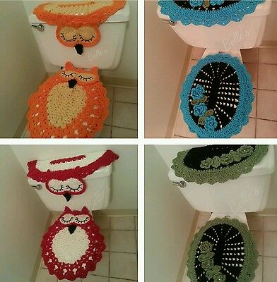 Sale Toilet Tank Cover Lid Seat Cover Set 1 2 3 Pc Bathroom