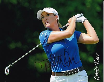 Cristie Kerr #1 autographed 8x10 Photo Free Shipping