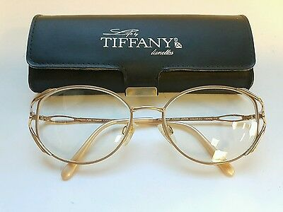 Tiffany eyeglasses frame Made in Japan Pure Titanium Frame Eyewear Vintage 1990