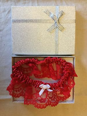 Garter With Lace And Embroidered motif