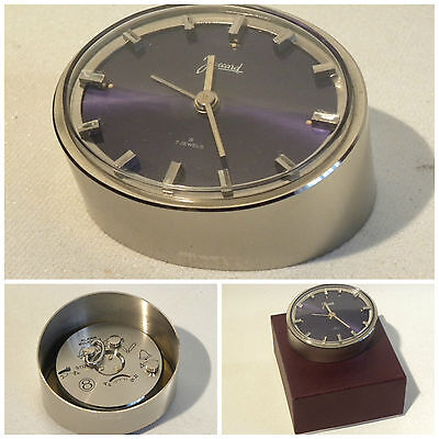 SVEGLIA OROLOGIO TAVOLO JACCARD 8 JOUR TABLE ALARM CLOCK 50s WORKING