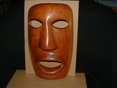 Unusual, Hand Carved, Wooden Tribal Mask