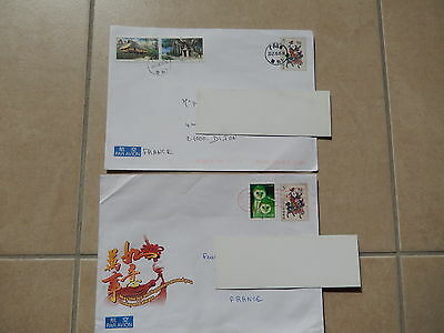Chine China : entier postal obl. - used postal stationery + timbre chouette owl