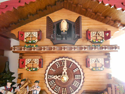 Cuckoo Clock Swiss house, Quartz, Hand Made in Germany NEW Good Idea for Gift!