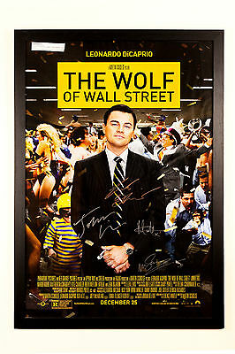 Wolf of Wall Street Signed Poster
