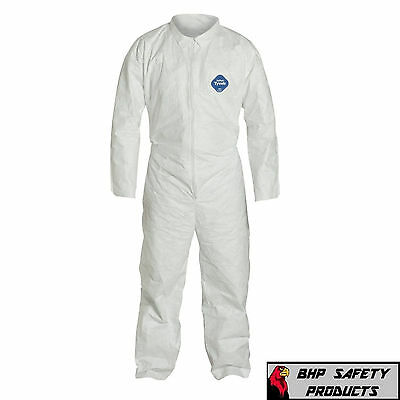 Dupont Ty120S White Tyvek Disposable Coverall Bunny Suit Size M-3Xl