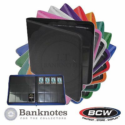 New Case Trading Gaming Cards Sport Pokemon Collection Album BCW Z Folio Zipper