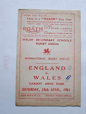 1961 England v Wales, Welsh Secondary School's Rugby Union Match Programme