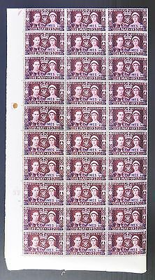 MOROCCO AGENCIES French 1937 Coronation Complete Sheet of 120 SEE BELOW FP9031