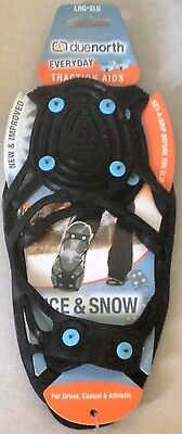 Anti Slip Ice Snow Shoe Grips Due North Traction Aids Spikes Crampons Shoe Boots