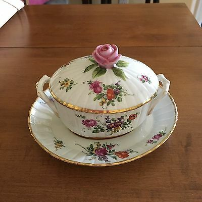 Vintage Schierholz Covered Floral Pea Tureen With Underplate