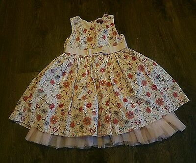 TED BAKER Girls Pink Floral Dress (3/4 years) party occasion wedding summer