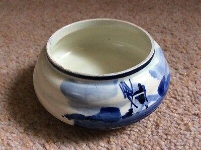 (R) Small china container.  #