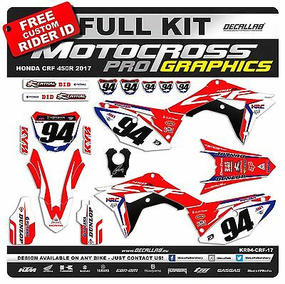 HONDA CRF450 2017 ROCZEN Graphics Decals Stickers Decallab