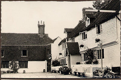 Cowden Crown Inn and Gordon House vintage motor cycle.