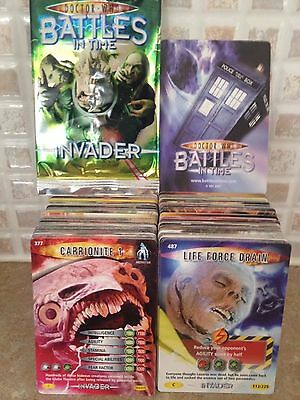 Bundle Dr who Trading Cards Battles InTime Invader - 500 Common Cards NEW
