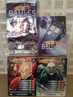 Bundle Dr who Trading Cards Battles InTime Annihilator - 299 Common Cards NEW