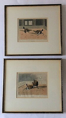 After Henry Alken - Four Cock Fighting Engravings