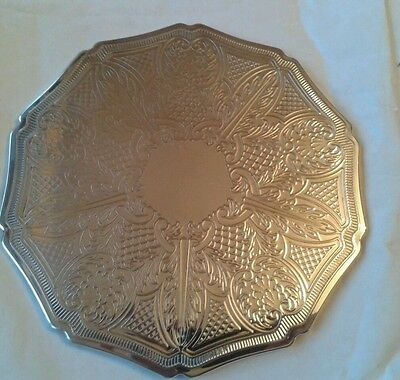 6 stunning vintage silver plated plate place table mats