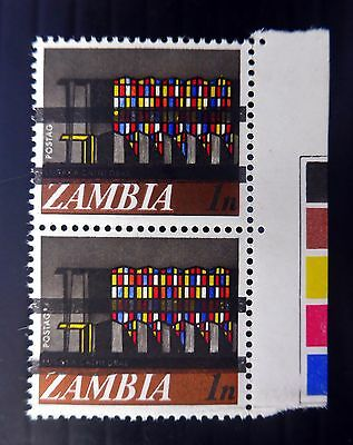 ZAMBIA 1968 1n Definitive Cyl Pair with Vertical Training SEE BELOW XZ409