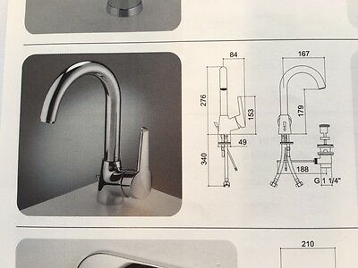 Marflow Lythan Basin Mixer With Swivel Spout & Pop Up Waste