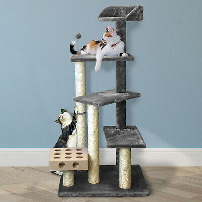 Tiger Tough™ Cat Tree Scratcher Play Stairs with Cat IQ  Busy Box