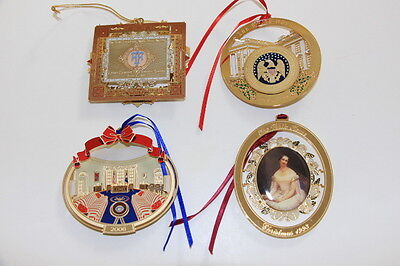 The White House Christmas Tree Holiday Ornament lot 4 - 1996, 2007, 1993, 2006