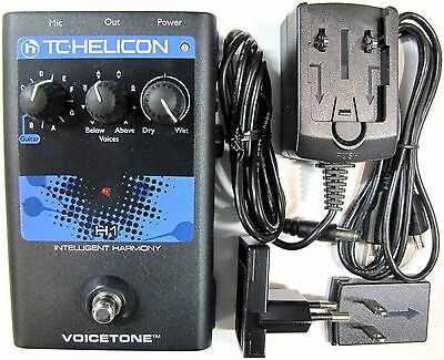 TC Helicon Voicetone H1 Intelligent Harmony Vocal Processor Effects Pedal!