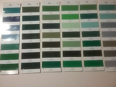 2K Epoxy Floor Paint   RAL Colours  Greens (6000's)  Select Tin  Select Colour