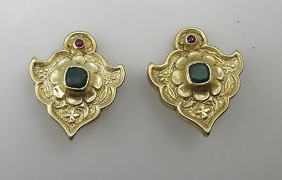 Mma Gold Over Sterling Silver Lab Emerald Ruby Earrings Metropolitan Museum