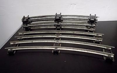 Vintage Hornby O Gauge Rail Track – 2 Foot Radius  Curved Sections x 8.