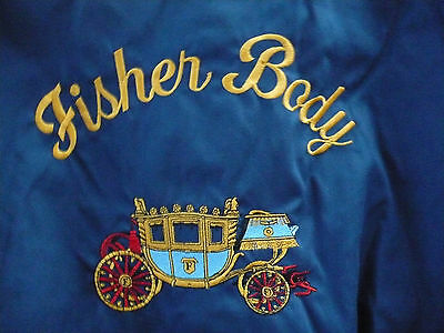 Fisher Body Embroidered  Baseball Jacket  Buick Oldsmobile Cadillac Chevy  Med
