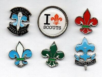 BOY SCOUTS from Argentina, 6 metal pins (P095)