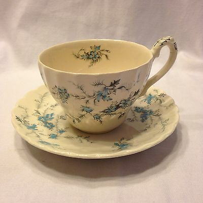 Myott Fine Staffordshire Ware, FORGET ME NOT Tea Cup & Saucer England