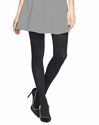 *NWT DKNY Women's Super Opaque Coverage Control Top Tights 2-Pair , Black Size M